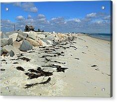 Plymouth Long Beach In Massachusetts  Acrylic Print by Janice Drew