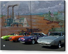 Plymouth Superbirds And Dodge  Daytonas Acrylic Print
