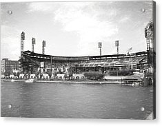 Pnc Park Charcoal Look Acrylic Print by Stephen Falavolito
