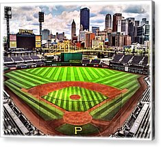 Pnc Park- Home Of The Pittsburgh Pirates Acrylic Print by Charles Ott