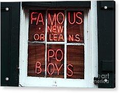 Po Boys Acrylic Print by John Rizzuto