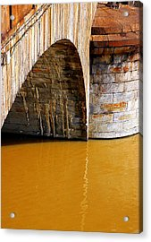 Po River Waters Acrylic Print by Valentino Visentini