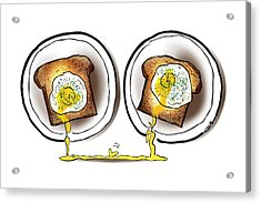 Poached Egg Love Acrylic Print by Mark Armstrong