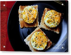 Poached Eggs On A Raft Acrylic Print by Andee Design