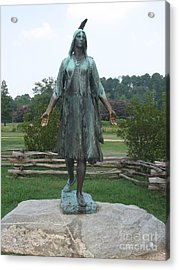 Pocahontas Sculpture Acrylic Print by Christiane Schulze Art And Photography