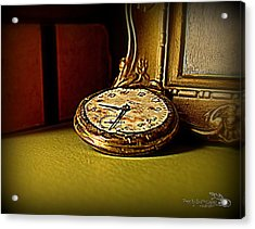 Pocket Watch Acrylic Print by Guy Hoffman