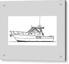 Pocket Yacht Profile Acrylic Print by Jack Pumphrey