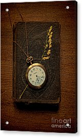 Pocketwatch On Old Book Acrylic Print