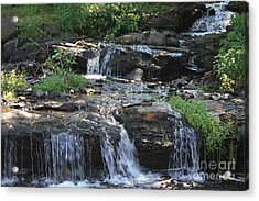 Poconos Waterfall Stream Acrylic Print by John Telfer