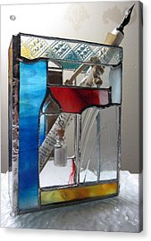 Poet Windowsill Box - Other View Acrylic Print by Karin Thue