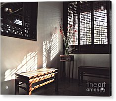 Acrylic Print featuring the photograph Poetic Reflection by Cendrine Marrouat