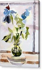 Poetry In The Window Acrylic Print by Kip DeVore