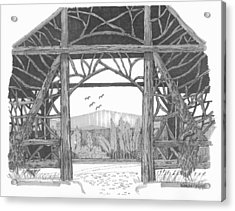 Acrylic Print featuring the drawing Poet's Walk 2 by Richard Wambach