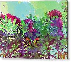 Acrylic Print featuring the painting Pohutakawa Tree by Jocelyn Friis