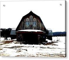 Poineer Church Acrylic Print by Misty Herrick