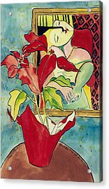 Poinsettia And Picasso Acrylic Print