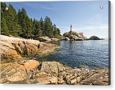 Acrylic Print featuring the photograph Point Atkinson Lighthouse In Vancouver Bc by JPLDesigns