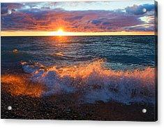 Point Betsie Sunset Acrylic Print by Craig Sterken