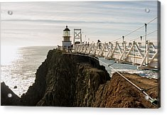 Point Bonita Lighthouse Acrylic Print by Georgia Fowler
