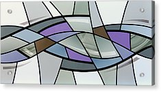 Point Grey Abstract Acrylic Print by Gilroy Stained Glass