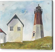 Point Judith Light Acrylic Print by Susan Herbst