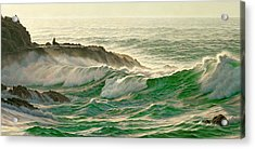 Point Lobos Surf Acrylic Print by Paul Krapf