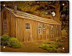 Point Lobos Whalers Cabin Acrylic Print by Barbara Snyder