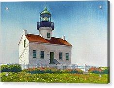 Point Loma Lighthouse Acrylic Print by Mary Helmreich