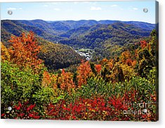 Point Mountain Overlook In Autumn Acrylic Print