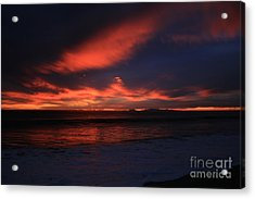 Acrylic Print featuring the photograph Point Mugu 1-9-10 Just After Sunset by Ian Donley