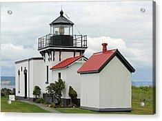 Acrylic Print featuring the photograph Point No Point Lighthouse by E Faithe Lester