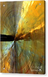 Point Of Impact In Copper And Green Acrylic Print