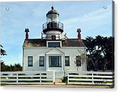 Point Pinos Lighthouse Acrylic Print by Barbara Snyder