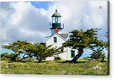 Point Pinos Lighthouse - Pacific Grove Ca Acrylic Print by Jim Pavelle