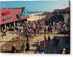 Point Pleasant Boardwalk Acrylic Print by James Kirkikis