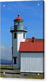 Acrylic Print featuring the photograph Point Robinson Light House by E Faithe Lester