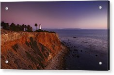 Point Vicente Lighthouse - Sunset Panorama - Rancho Palo Verdes Acrylic Print