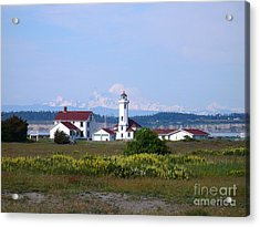 Point Wilson Light Acrylic Print by Gayle Swigart