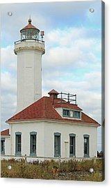 Acrylic Print featuring the photograph Point Wilson Lighthouse by E Faithe Lester