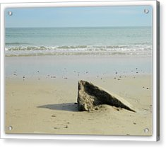 Pointed Rock At Squibby Acrylic Print by Kathy Barney