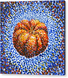 Pointillism Pumpkin Acrylic Print by Samantha Geernaert