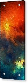 Points Of Light Abstract Art By Sharon Cummings Acrylic Print by Sharon Cummings