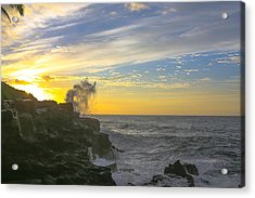 Poipu Kauai Sunrise Acrylic Print by Sam Amato