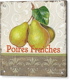 Poires Fraiches Acrylic Print by Debbie DeWitt