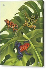Poison Pals Acrylic Print by Laura Regan