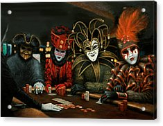 Acrylic Print featuring the painting Poker Face IIi by Jason Marsh