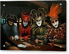 Poker Face IIi Acrylic Print by Jason Marsh