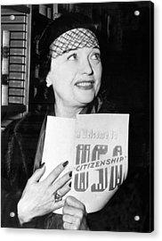 Pola Negri Becomes Us Citizen Acrylic Print