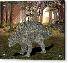 Polacanthus Dinosaur Acrylic Print by Friedrich Saurer