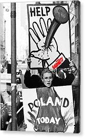 Poland Help Acrylic Print by Zygmunt Malinowski